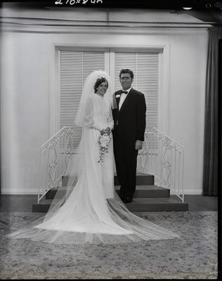 Film negative: Vincent and Wilson wedding, bride and groom