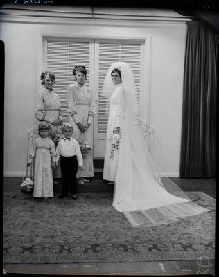 Film negative: Vincent and Wilson wedding party
