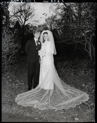 Film negative: Purius and Horgan wedding, bride and groom
