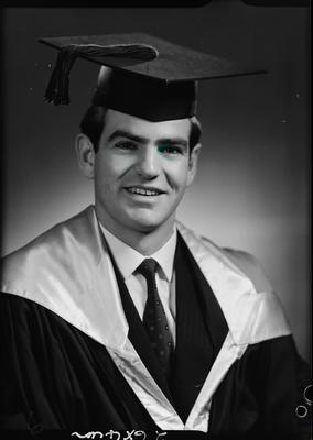 Film negative: Mr P Quirk, graduate