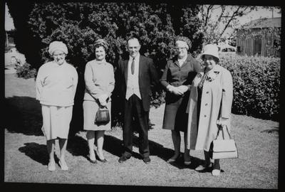 Film negative: Mrs Chapman, group of five