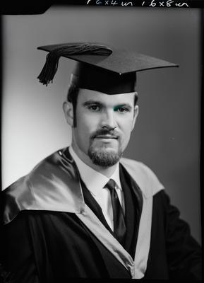 Film negative: Mr Burrows, graduate