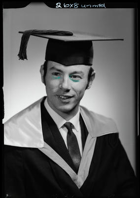 Film negative: Mr Bentley, graduate