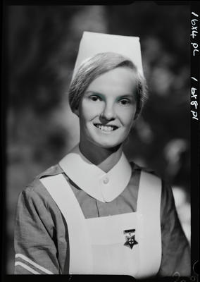 Film negative: Miss C Binns, nurse