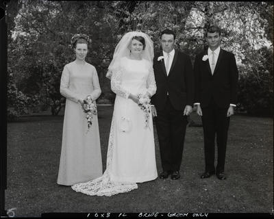 Film negative: Cross and Ashby wedding, party of four