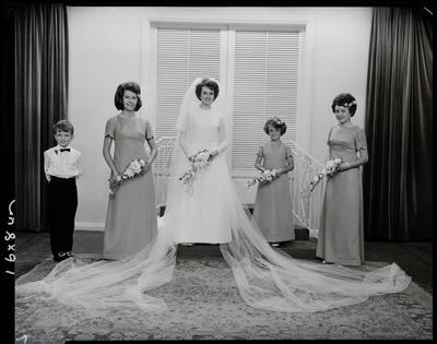 Film negative: Binnie and Graham wedding, party of five