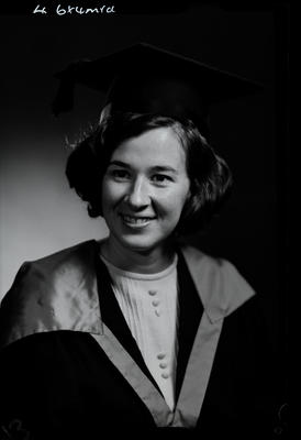 Film negative: Miss Ryan, graduate