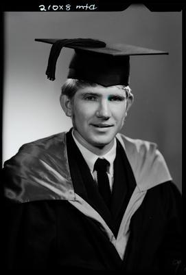 Film negative: Mr Rundle, graduate