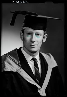 Film negative: Mr Rowe, graduate
