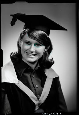 Film negative: Miss P Robinson, graduate