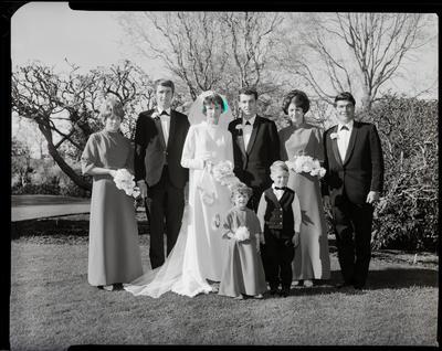 Film negative: Sleeman and Watson wedding, party of eight