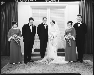 Film negative: Stewart and McGlinnchey wedding, party of six