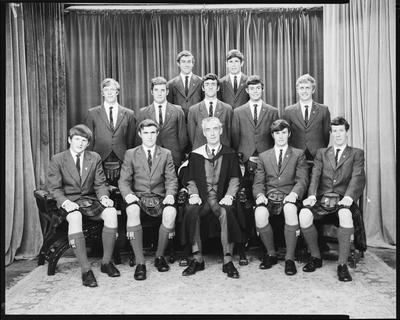 Film negative: St Andrews College, prefects, group of thirteen