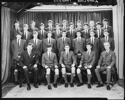 Film negative: St Andrews College, prefects, group of twenty-five