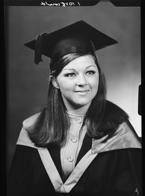 Film negative: Miss Sutherland, graduate