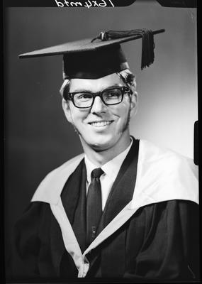 Film negative: Mr Alec (Alexander) Saunders, graduate