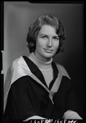 Film negative: Miss C Baird, graduate