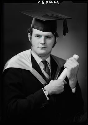 Film negative: Mr Gartrell, graduate