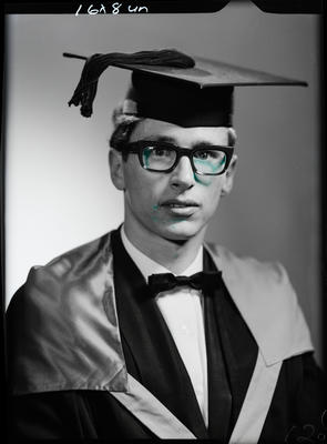 Film negative: Mr G W Robinson, graduate
