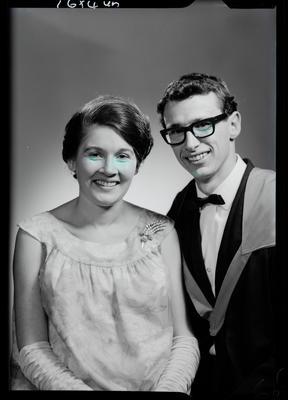 Film negative: Mr G W Robinson, graduate and unidentified woman