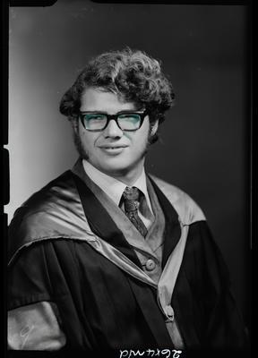 Film negative: Mr L M Megget, graduate