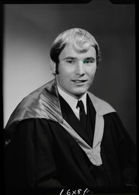Film negative: Mr R May, graduate