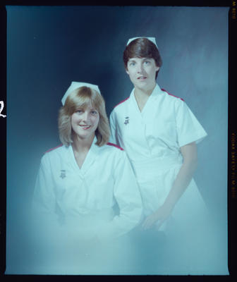 Negative: Miss Janine Mason and Unnamed Woman Nurse Portrait