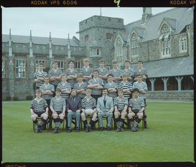 Negative: Christ's College Rugby Team 1985