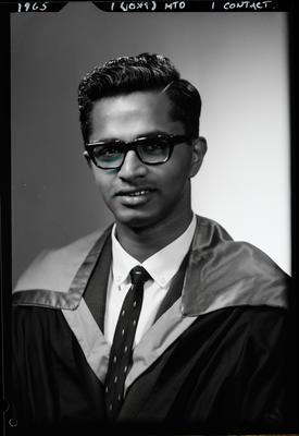 Film negative: Mr Ponniah, graduate