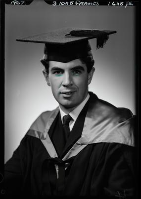 Film negative: Mr Adams, graduate