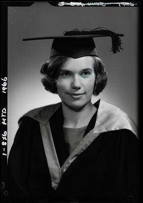 Film negative: Miss Fulton, graduate