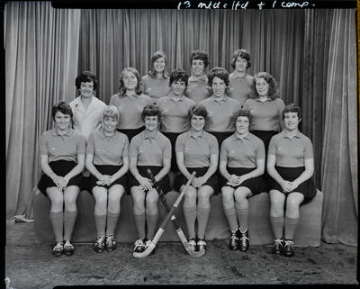 Film negative: Canterbury Hockey Team, 'K' cup