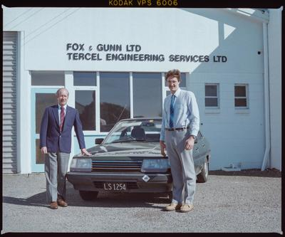 Negative: Two Men Outside Fox & Gunn Ltd