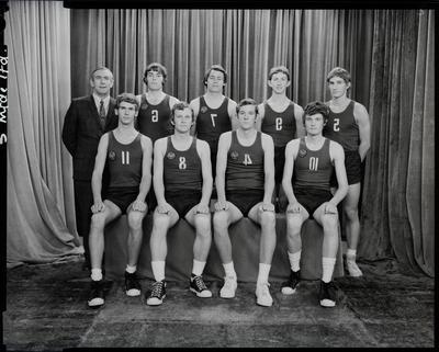 Film negative: Christchurch Boys High School: basketball team