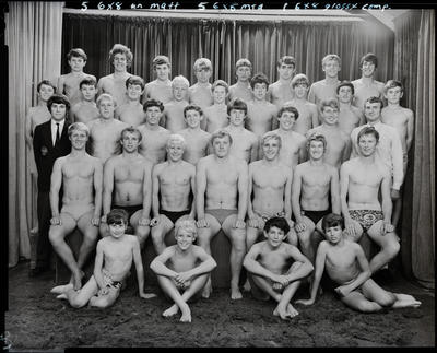 Film negative: Christchurch Boys High School: swimming