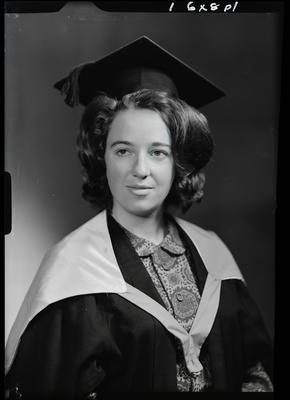 Film negative: Miss N Clark, graduate