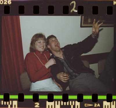 Negative: Unnamed Man and Woman ANZ Ball 1985