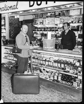 Film negative: International Harvester Company: Mr M Little, at Harewood Duty Free