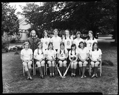 Film negative: Christchurch Girls High School, Acland House, hockey group
