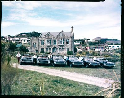 Film negative: Blue Star Taxis, Sign of the Takahe