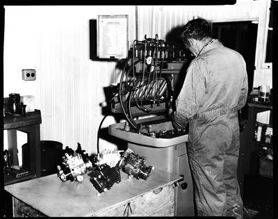 Film negative: International Harvester Company: hydro-pump repair
