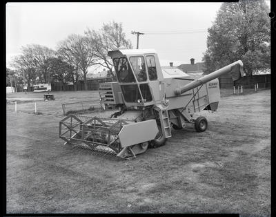 Film negative: Claas combine, ready for action