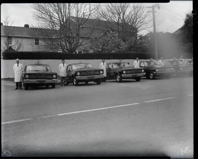 Film negative: Blue Star Taxis, Chrysler Valiant fleet