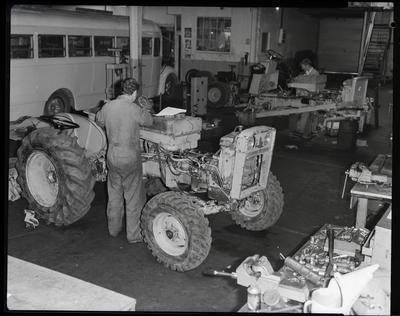 Film negative: International Harvester Company: deep freeze tractors, part assembly