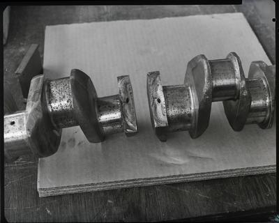 Film negative: International Harvester Company: broken cam shaft