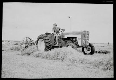 Film negative: International Harvester Company: copy from colour negative, tractor and hydraulics