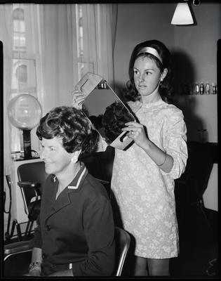 Film negative: Salon Nadia, senior stylists