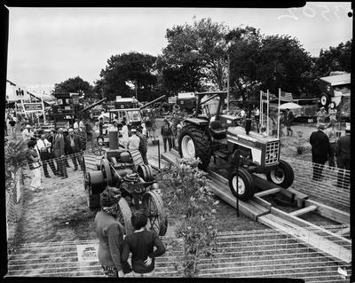 Film negative: International Harvester Company: tractor stand