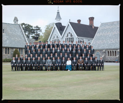 Negative: Christ's College Corfe House 1985