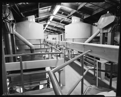 Film negative: Flemings Flour Mill, conveyor system